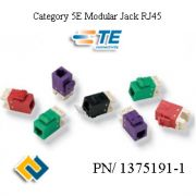 AMP Category 5E Modular Jack RJ45, SL, T568A/B, Almond