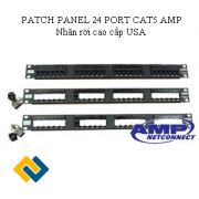 PATCH PANEL 24 PORT CAT5 AMP NHÂN RỜI (Mexico/Usa)