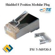 Shielded 8 Position Modular Plug 5-569530-3