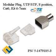 Modular Plug UTP/STP 8 position Cat6 Kit 6-7mm