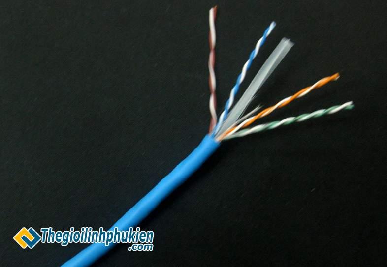 Cáp mạng AMP Cat6e TE UTP 75C chính hãng 8 sợi đồng
